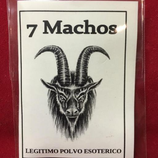 ☆ 7 MACHOS ☆ LEGITIMO POLVO ESOTERICO ESPECIAL !!!