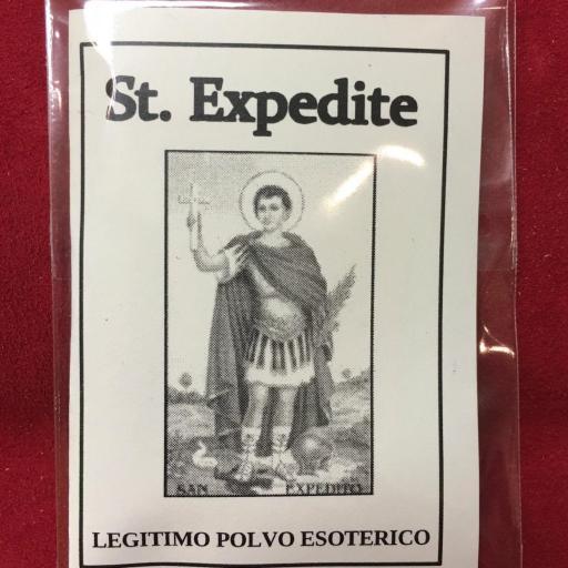 ☆ St. Expedite ☆ LEGITIMO POLVO ESOTERICO ESPECIAL !!!