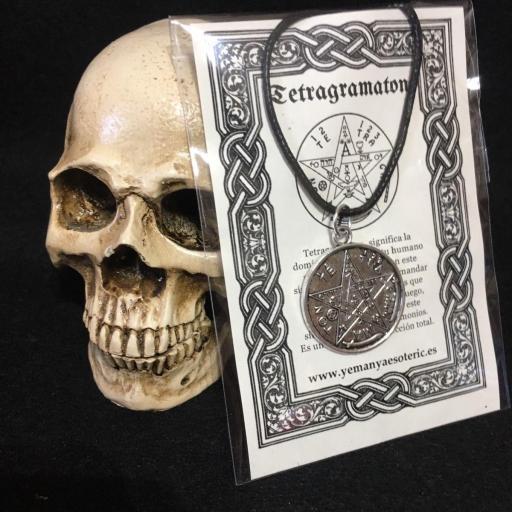 TETRAGRAMATON METAL PLATEADO 3cm. Wicca Spell Ritual