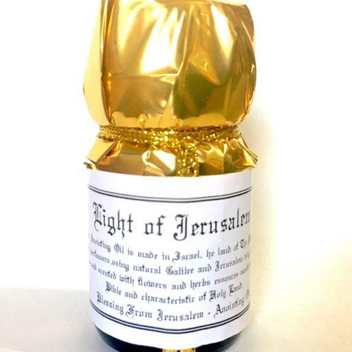 ⭐️ LUZ DE JERUSALEN ⭐️ Bendición de Jerusalén Unción de aceite 30ml.