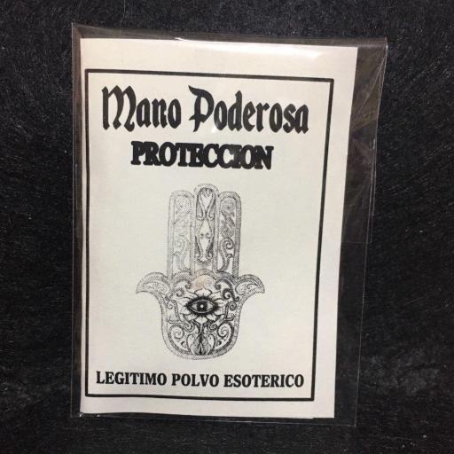 "☆ MANO PODEROSA ☆ "" PROTECCION "" LEGITIMO POLVO ESOTERICO ESPECIAL !!!"