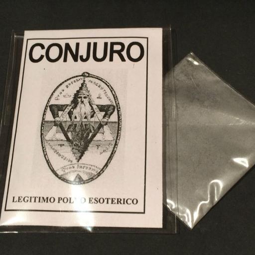 """LEGITIMO POLVO ESOTERICO ESPECIAL """" CONJURO """""""