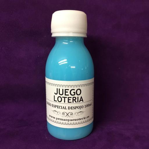 """BAÑO ESPECIAL DESPOJO """" JUEGO Y LOTERIA """" 100 ml"""
