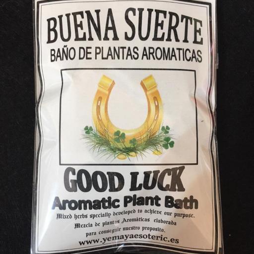 BAÑO DE PLANTAS BUENA SUERTE