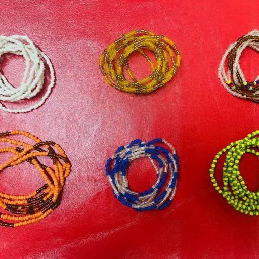 LOTE X 6 collares ORISHAS finos - SANTERIA YORUBA IFA - Eleke Santeria inlé INLE
