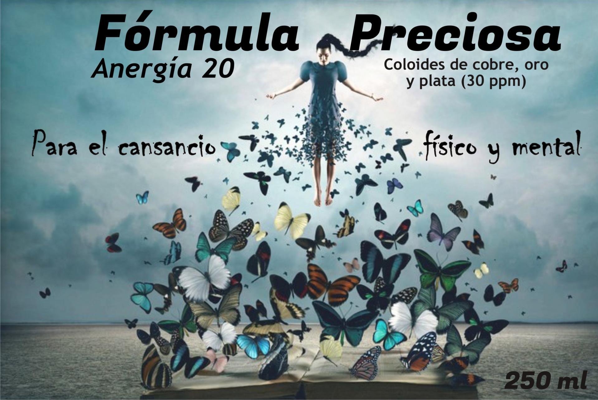 "FORMULA PRECIOSA ""ANERGÍA"" 20 PPM, 250 ML"