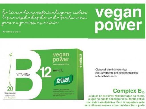 VITAMINA B12 1000mcg, 20 caramelos masticables 1000mcg. SANTIVERI [1]