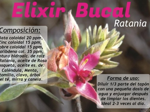 ELIXIR BUCAL CON RATANIA, 250 ML. (COLUTORIO) [0]