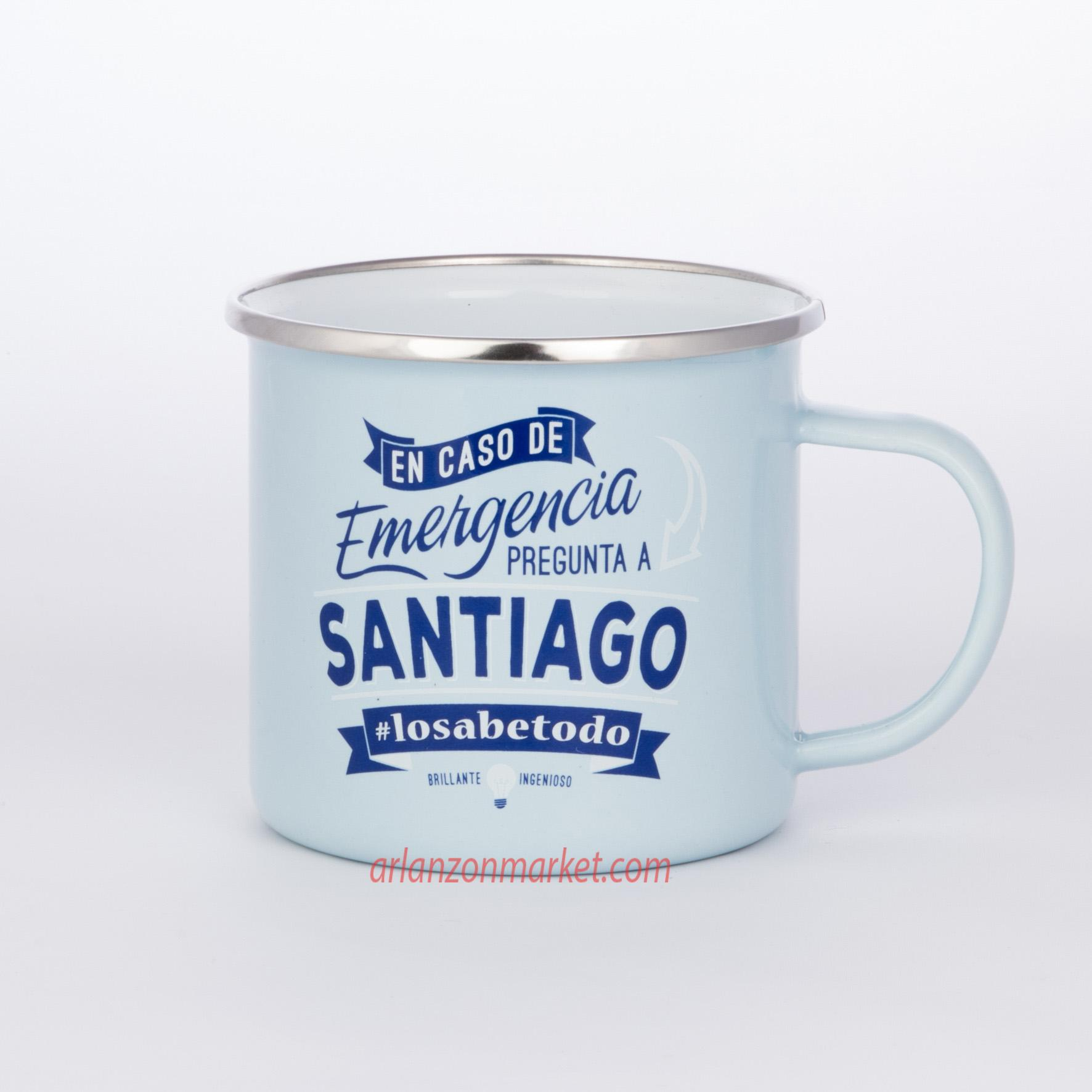 Taza vintage SANTIAGO