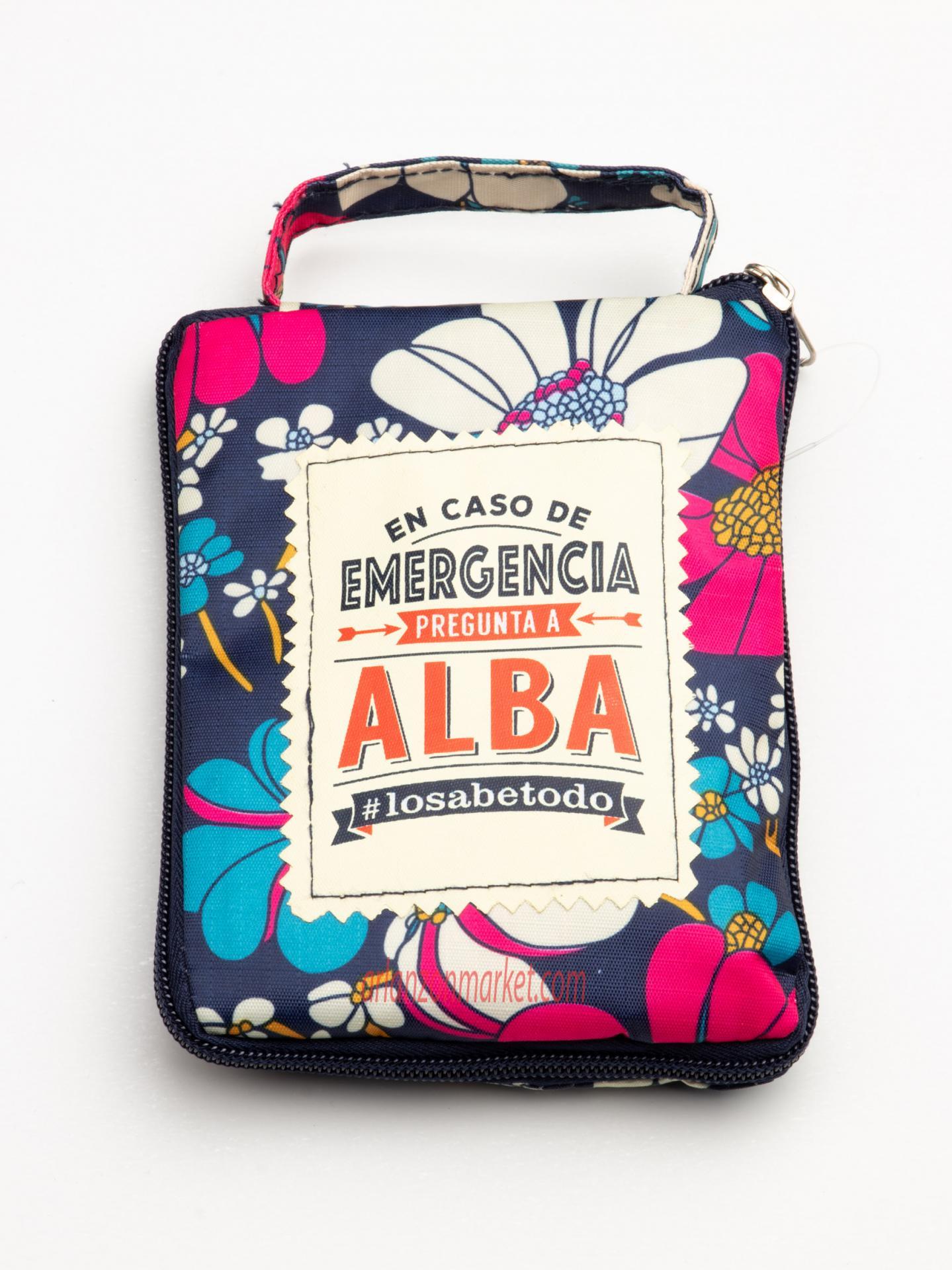 Bolsa con mensaje ALBA