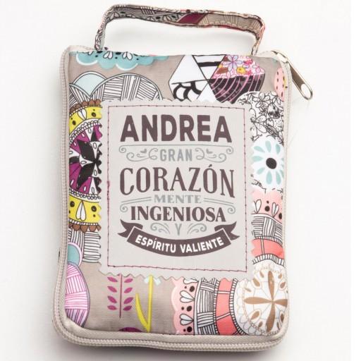 Bolsa con mensaje ANDREA
