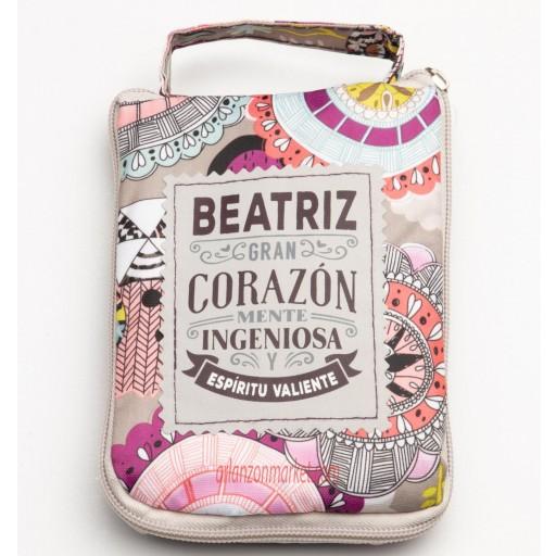 Bolsa con mensaje BEATRIZ