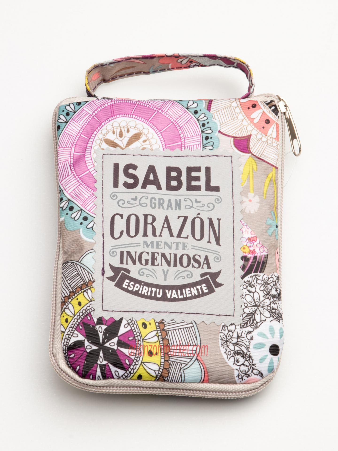 Bolsa con mensaje  ISABEL
