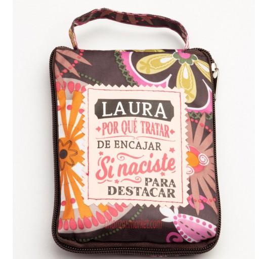 Bolsa con mensaje  LAURA