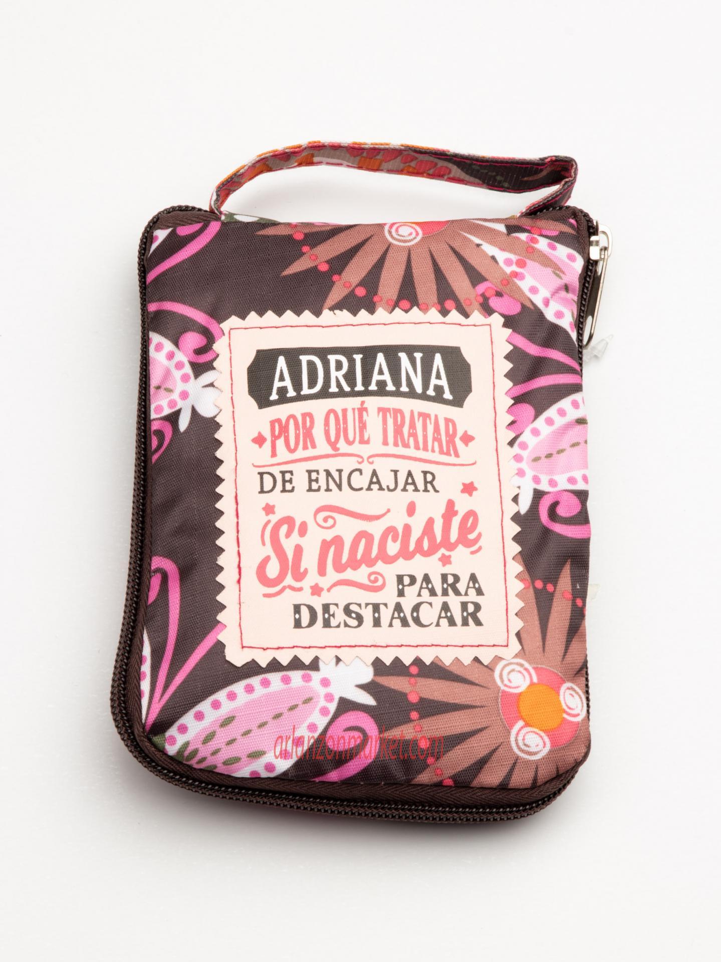 Bolsa con mensaje ADRIANA