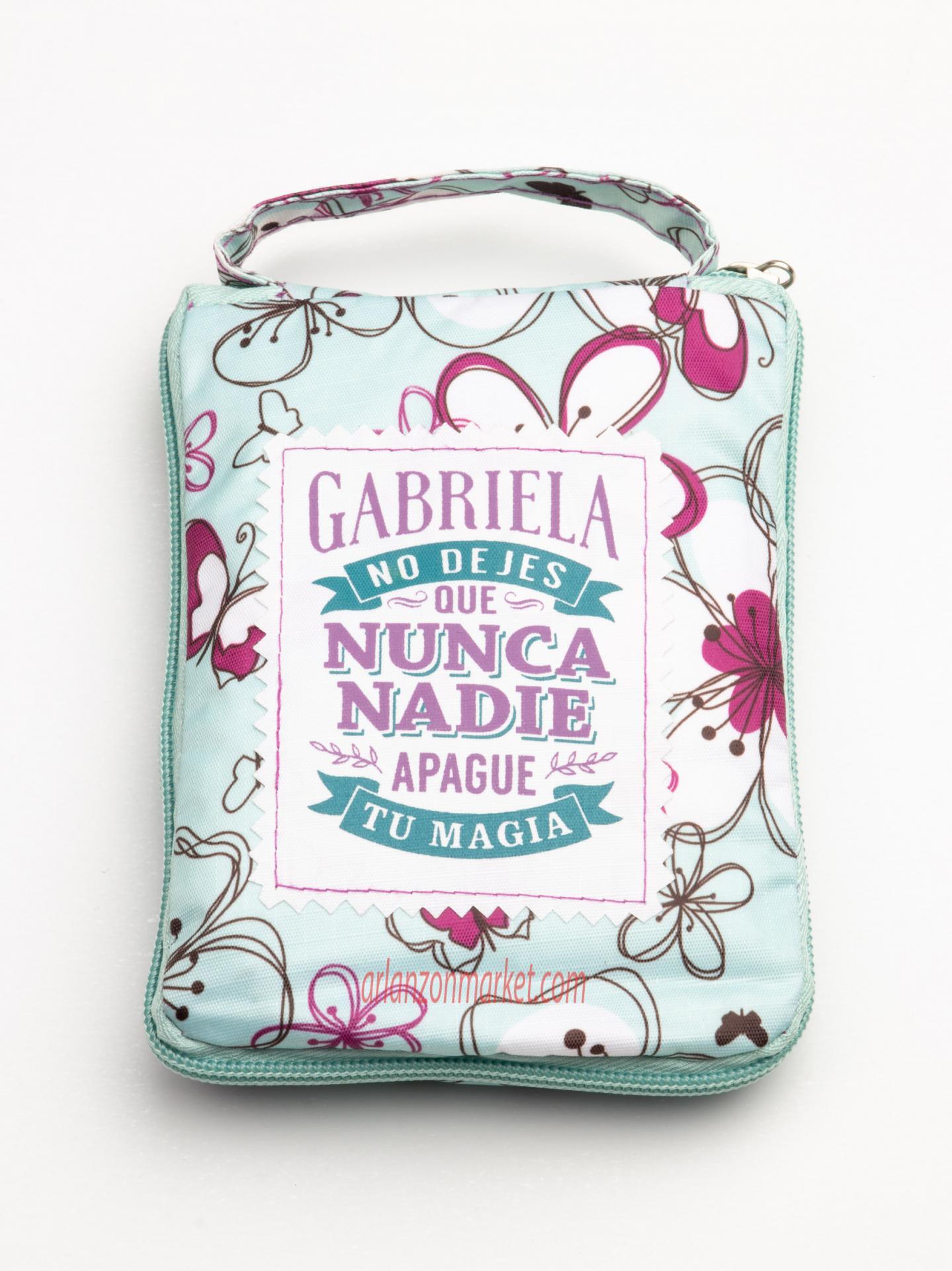 Bolsa con mensaje  GABRIELA
