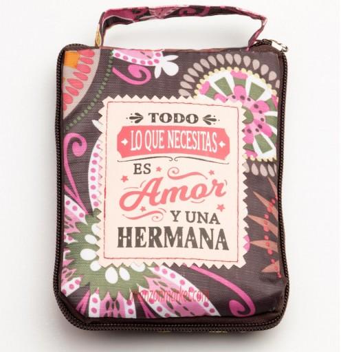 Bolsa con mensaje  HERMANA