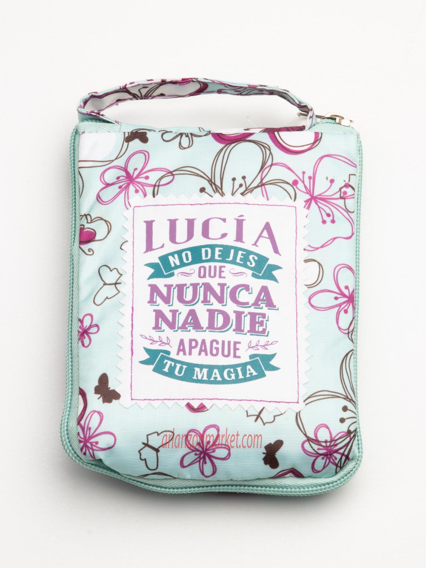 Bolsa con mensaje  LUCIA