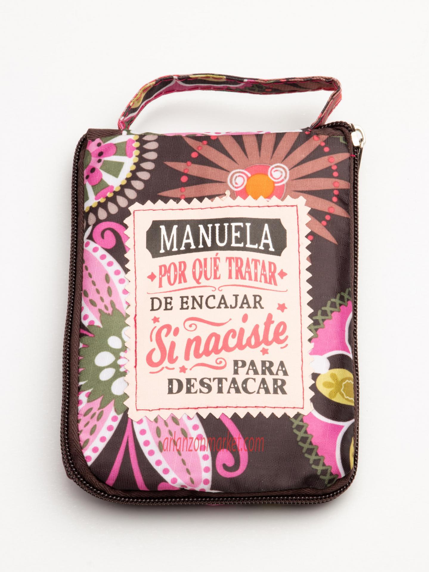 Bolsa con mensaje  MANUELA