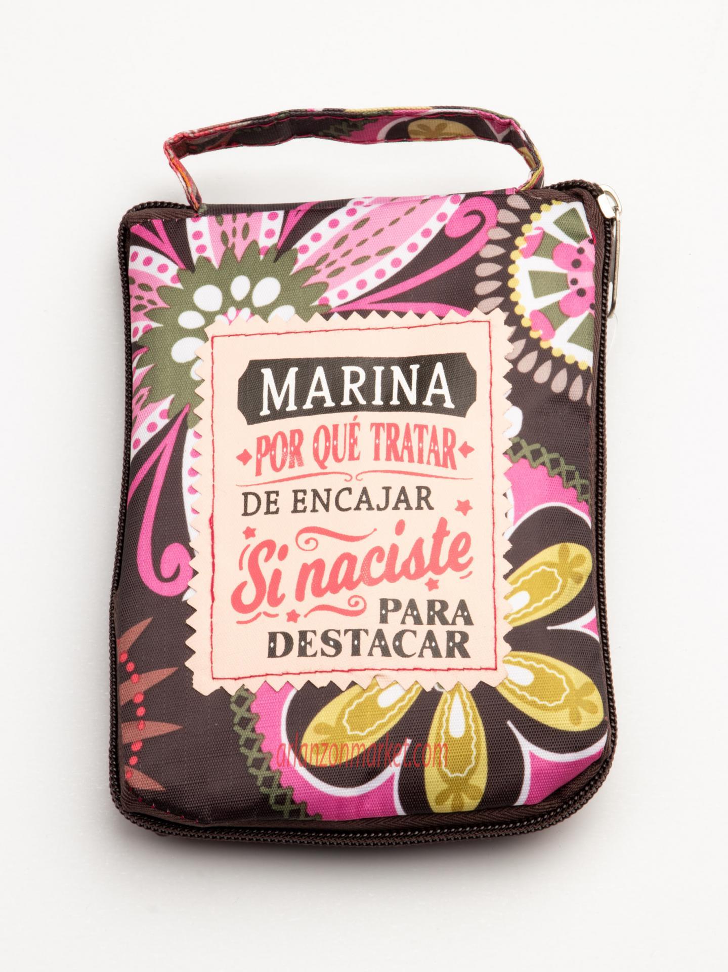 Bolsa con mensaje  MARINA