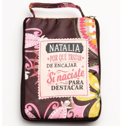 Bolsa con mensaje  NATALIA