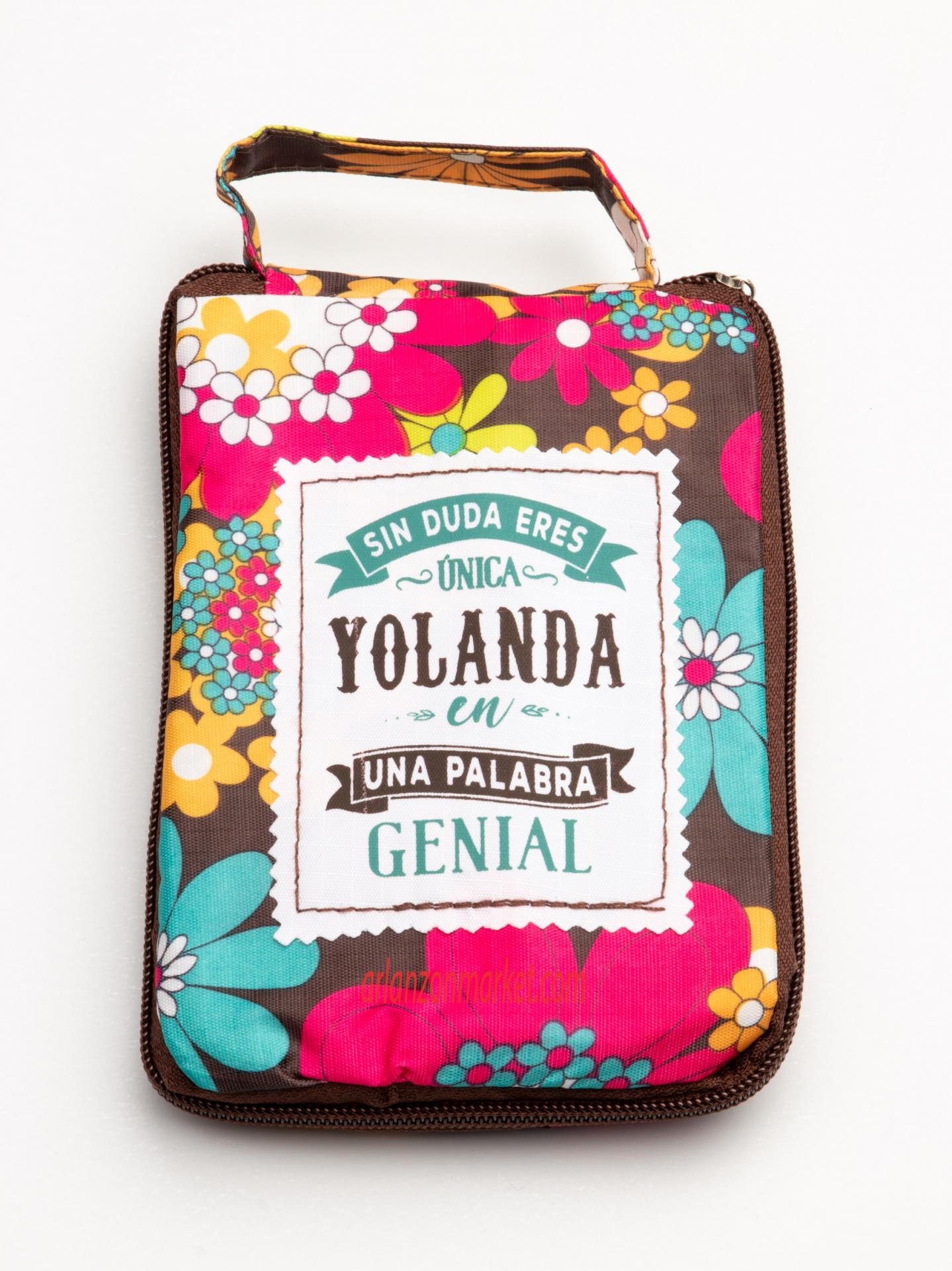 Bolsa con mensaje  YOLANDA