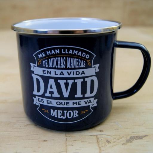Taza vintage DAVID