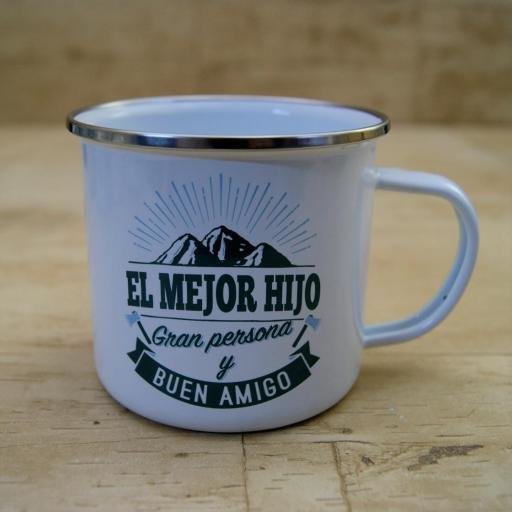 Taza vintage EL MEJOR HIJO