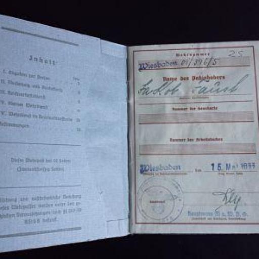 Documento militar, Alemania / WWII [1]
