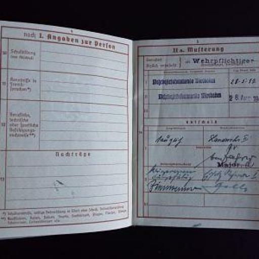 Documento militar, Alemania / WWII [2]