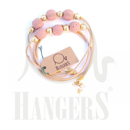 Ante fino con bolas rosas