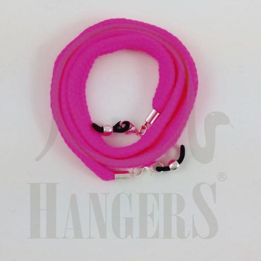 Cordón de Gafas Olimpia plano rosa flúor