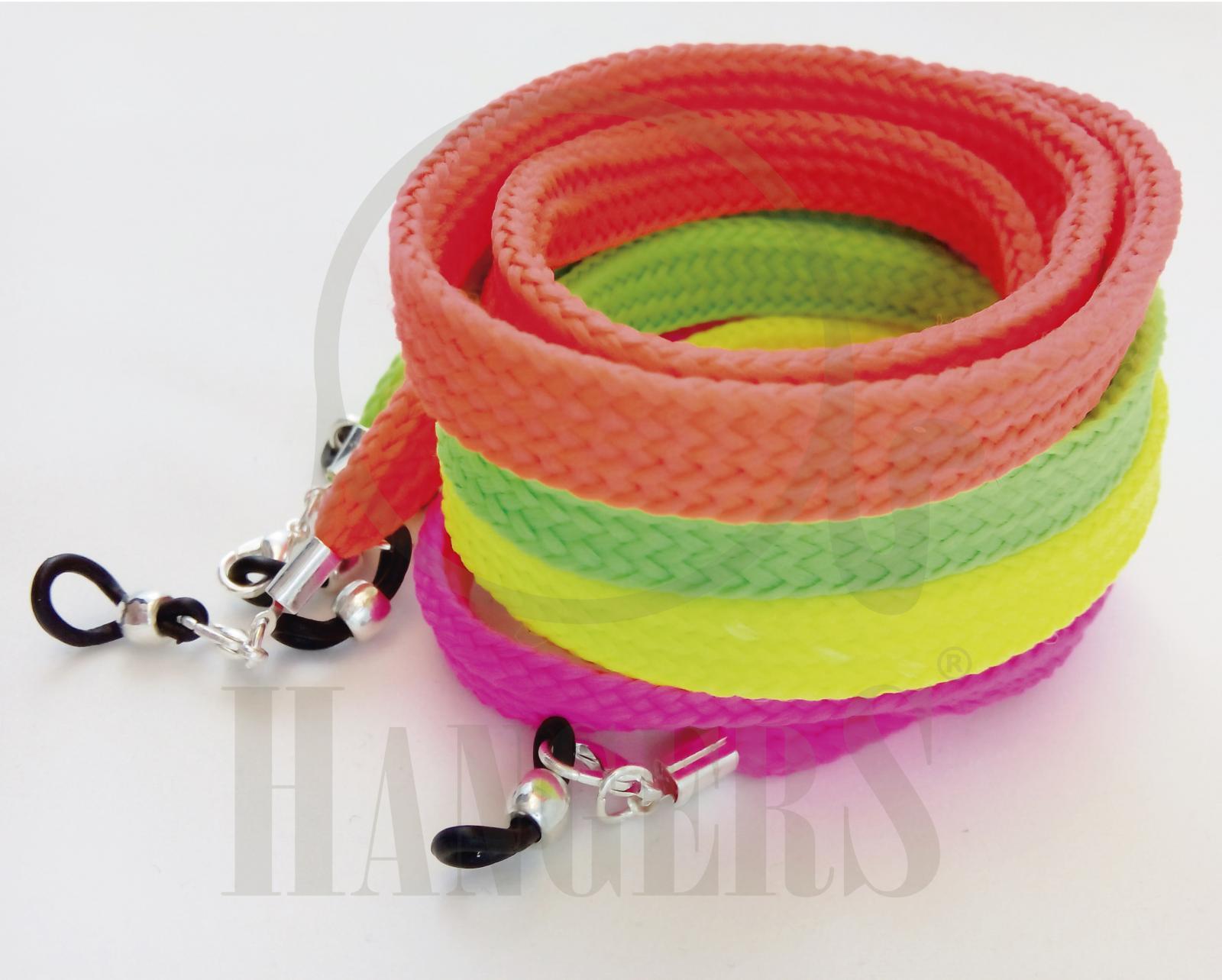Pack 4 cordones deportivos planos colores flúor