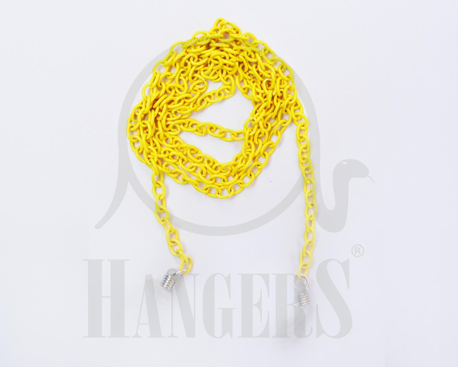 Cadena de eslabones ovalados amarillo