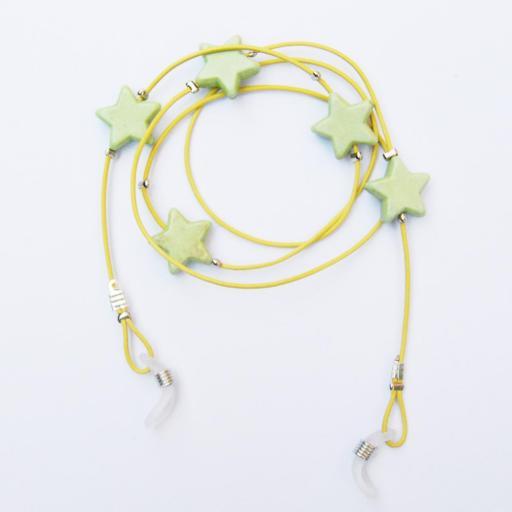 Estrellas verde pistacho