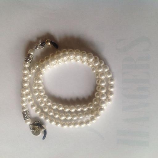 Collar para Gafas Sidney perlas grande