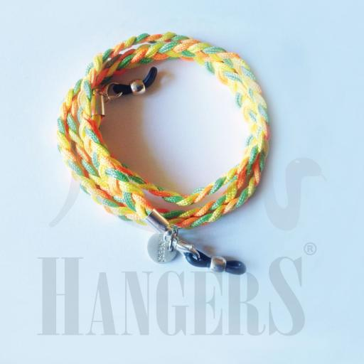 Cordón de Gafas Utrecht tricolor naranja