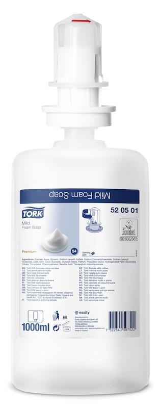 520501 Tork Jabón en espuma suave 1000 ml