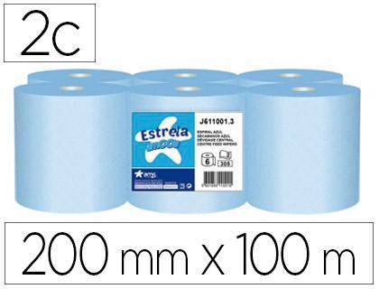 Pack 6 bobinas Celulosa Mecha Azul