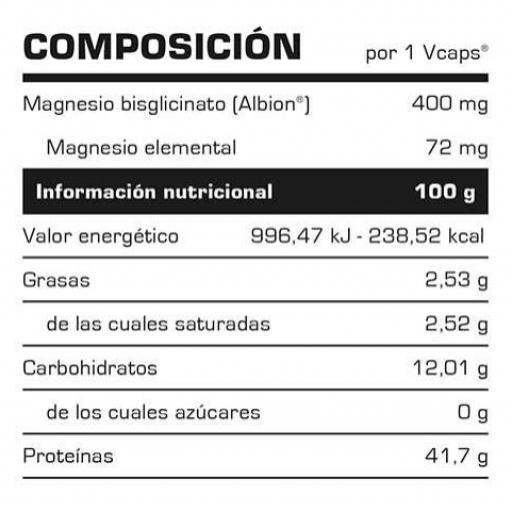 MAGNESIUM BISGLYCINATE 60 CAPS. [1]