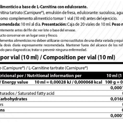 L-CARNITINE 3000 10ML VIALES [1]
