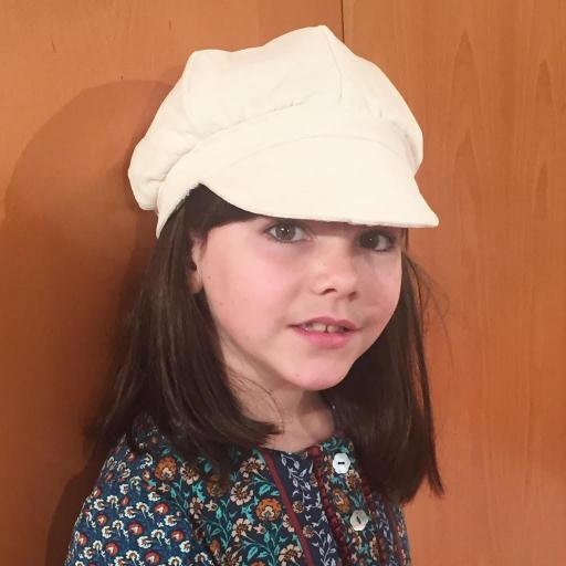 Gorra italiana niño de tela y pajarita [2]