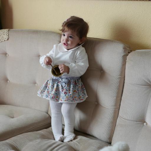 Cubrepañal y Bombacho con falda para bebés y niñas [3]