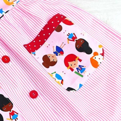 Bata escolar para niña y mochila [3]