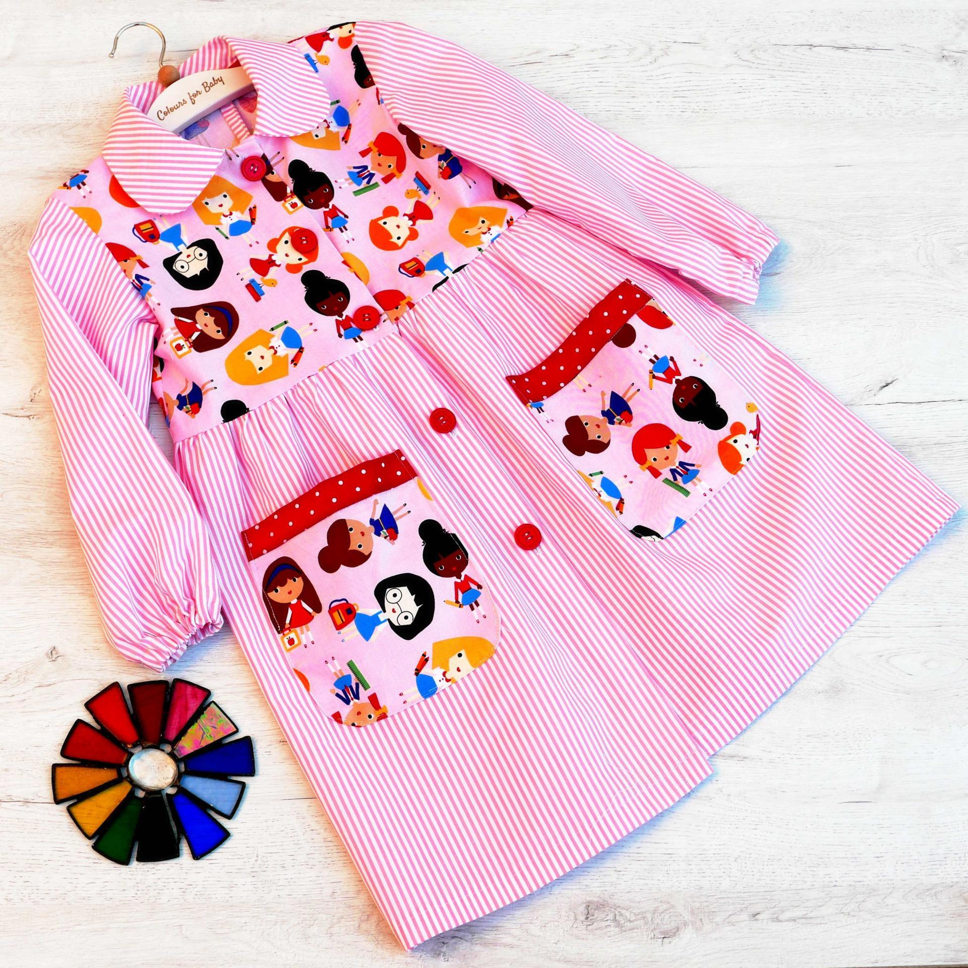 Bata escolar para niña y mochila