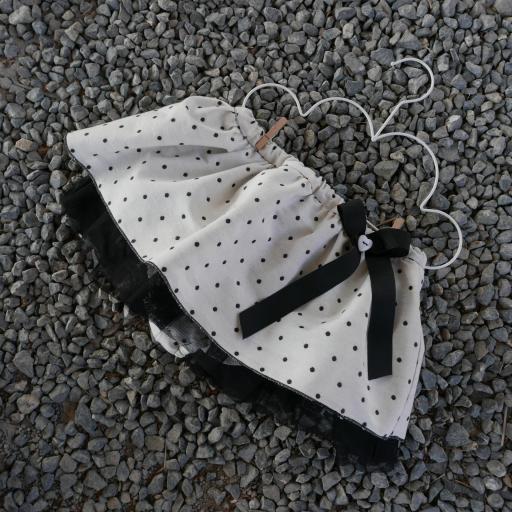 Cubrepañal y Bombacho con falda para bebés y niñas [1]