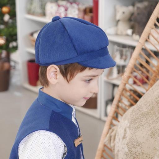 Gorra italiana niño de tela y pajarita [1]
