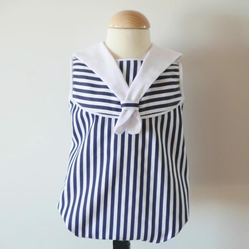 Vestido o Ranita estilo marinero [2]