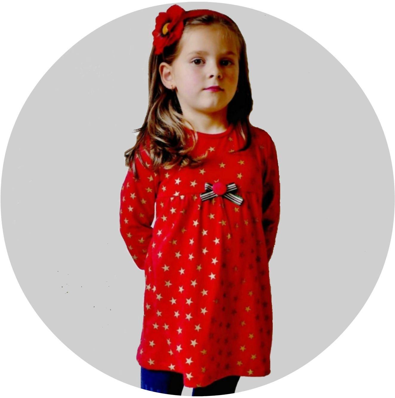 Vestido y blusa niña Stars