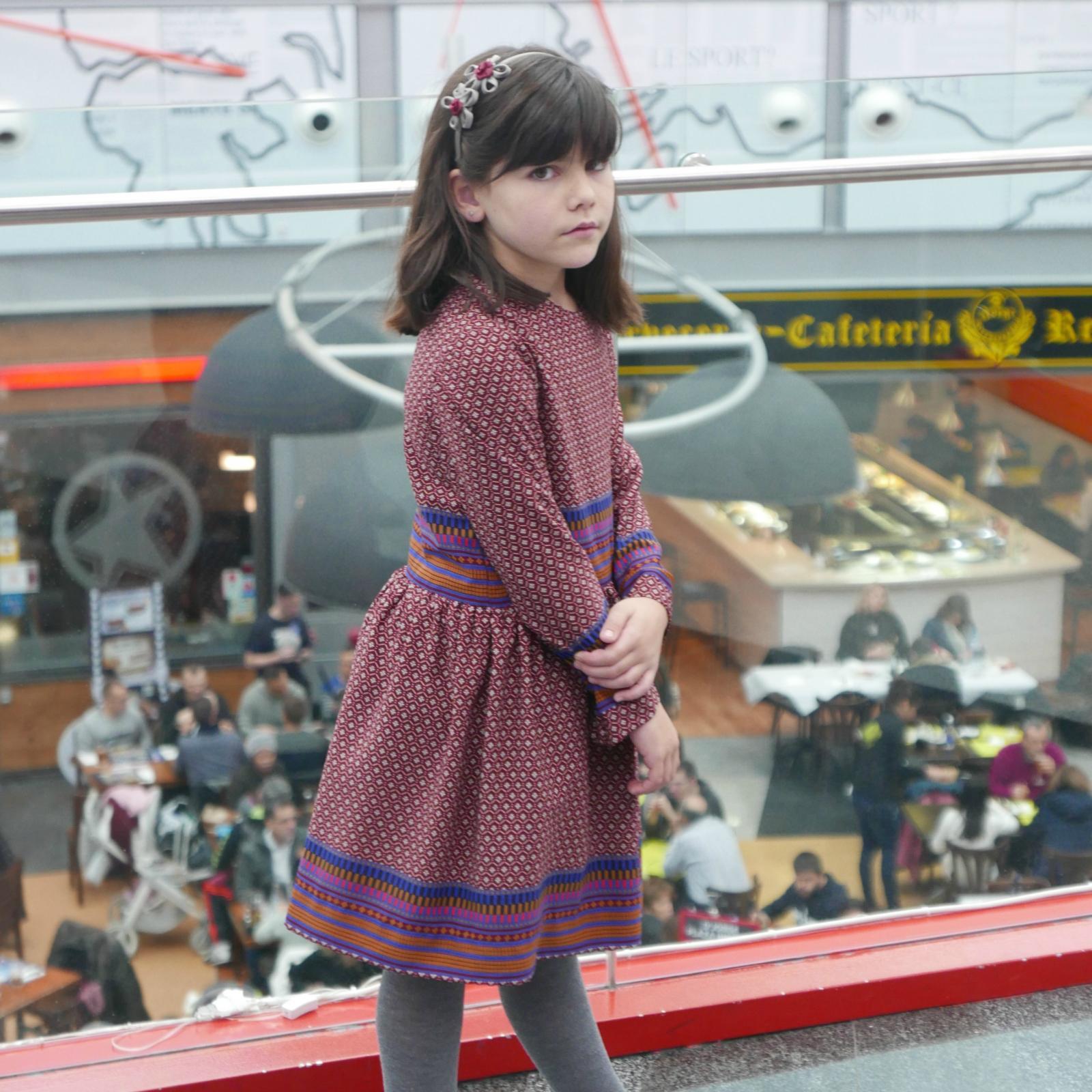 Vestido con falda fruncida mod. Sophie
